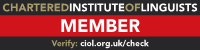 Member, Chartered Institute of Linguists